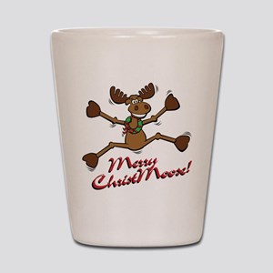 Merry Christmoose [jumping] Shot Glass